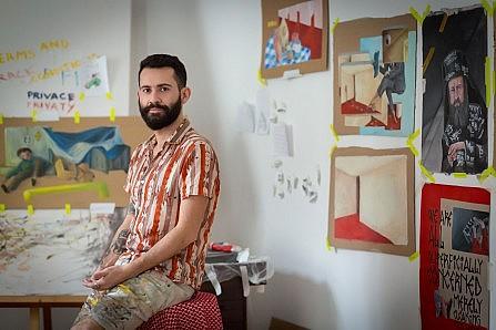 9ebb918c6a Diego Miguel in his SomoS atelier (Photo courtesy Zack Soltes)