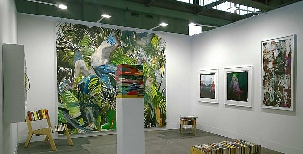 Work by SomoS artists at the Positions booth of Galerie van Cauwelaert.