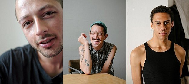 Teiko Zheng portrays queer Berlin queer migrants, 3 photos of 25-year old gay young men from Berlin.