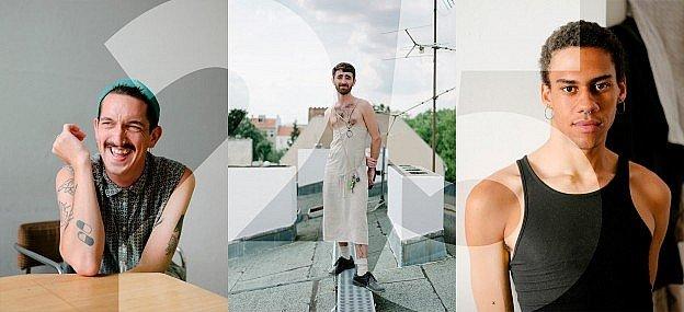 Teiko Zheng portrays queer Berlin queer migrants, 3 photos of 25-year old gay young men from Berlin.