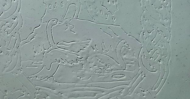 Daniil Galkin's plasticine scuplture The Swann-Geese.