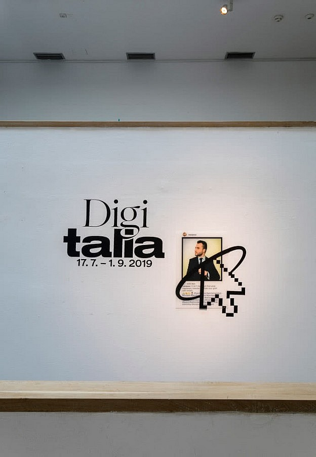 Gallery view announcing the Digitalis exhibition.