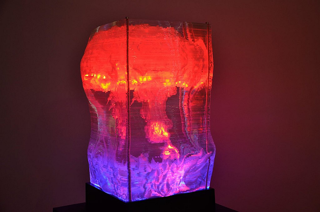 Li Li Hui: Blooming, 2012, LED Lights, acrylic, wooden base, 175 x 95 x 95 cm