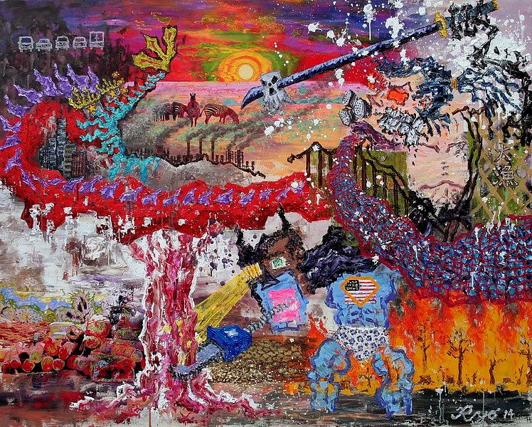 Ryo Kato: Umwelt-Kriege, 2014, 130,3 x 162 cm